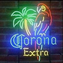 Custom Corona Parrot Glass Neon Light Sign Beer Bar