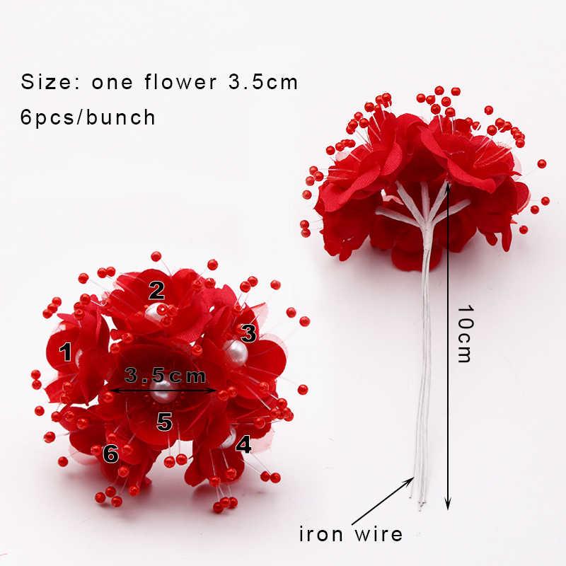 12pcs 3.5cm zijde Rose Kunstmatige bloem Boeket Voor Scrapbook Bruiloft & thuis & winkel Decoratie Krans hobby DIY craft gift verpakking
