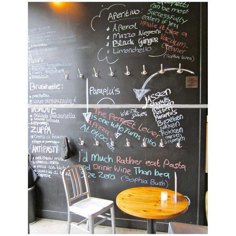 Chalk Board Blackboard Adesivos Desenhar Decor Mural Art Decalques Vinil Removível Quadro Adesivos de Parede Para Quartos Dos Miúdos Q1 - 5