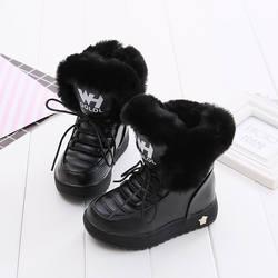 Mudipanda buty dziecięce zimowe buty dziewczęce dziecięce zimowe buty czarne różowe botte enfant fille dodaj wełniane ciepłe zimowe buty dla studentów w Buty od Matka i dzieci na