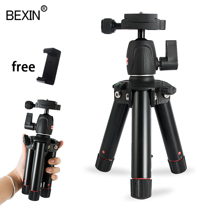 BEXIN New mini tripod tabletop desktop camera stand mount travel holder mobile tripod for the camera DSLRS phone on the table