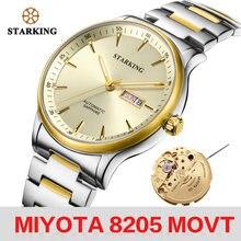 Starking Мужские механические часы miyota 8205 movt автоматические
