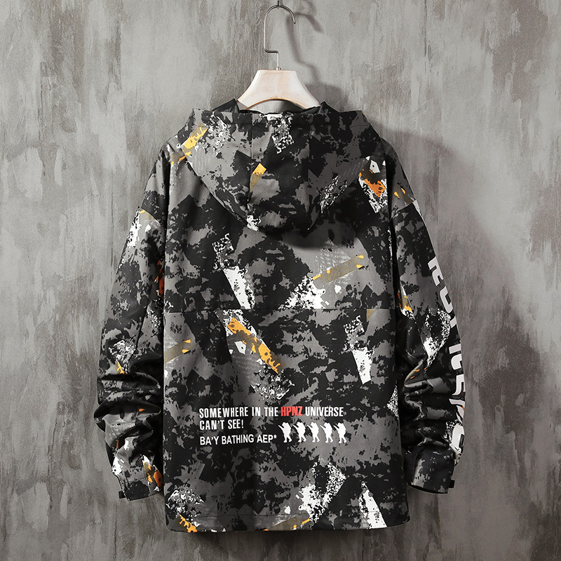 Camouflage Hoodies Men Fashion Hooded Jacket  Camo Hoody Hip Autumn Winter Military Hoodie Mens Clothing