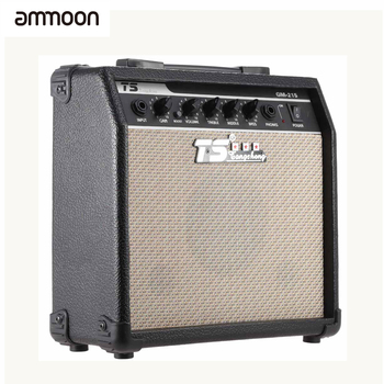 """ammoon GM-215 15W Electric Guitar Amplifier Amp Distortion with 5"""" Speaker 3-Band EQ to Control Treble Middle Guitar and Bass"""