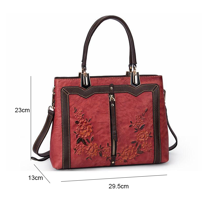 Image 5 - Johnature Retro Handmade Genuine Leather Luxury Handbags Women 