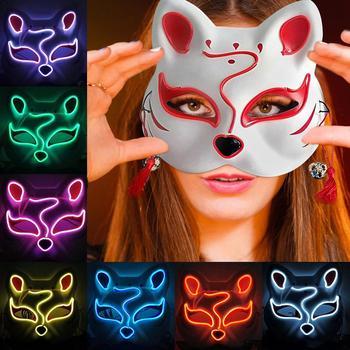 Mascherine Del Partito di Halloween di Figura del Gatto Luminoso Maschera Costume Cosplay Puntelli Puntelli di Prestazione di Ballo di Strada Maschera di Halloween Decorazione