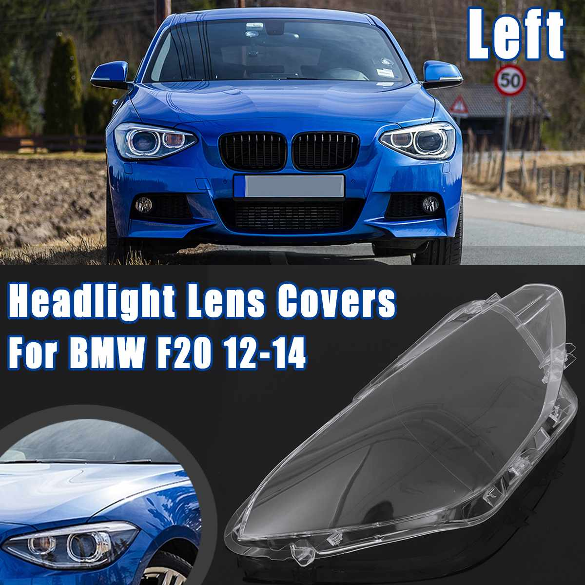 Headlight Transparent Glass Lens Cover For BMW F20 2012 2013 2014 Front Left Right Headlamp Lampshade Clear Auto Accessories image