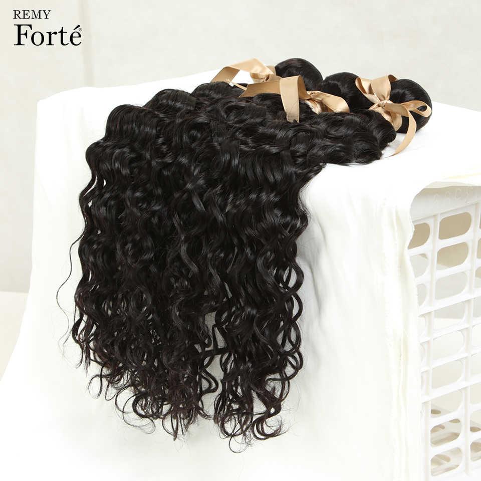 Remy Forte 30 inç su gölgeli brezilyalı saçı örgü demetleri anlaşma İnsan saç uzatma satıcıları dalgalı demetleri insan saçı kadınlar için