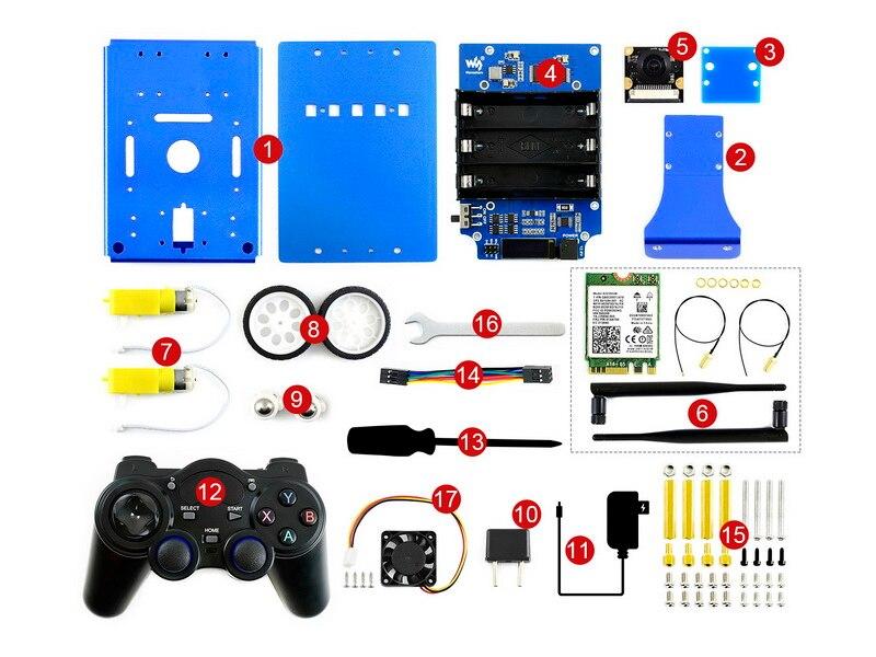 JetBot AI Kit Acce (without Jetson Nano)JetBot AI Kit Accessories, Add-ons For Jetson Nano To Build JetBot