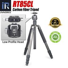 RT85CL Professional 10 Layers Carbon Fiber Tripod Monopod with Panoramic Low Profole Ball or Fluid Head for Digital DSLR Camera