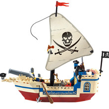 188Pcs Pirates Of Caribbean Bricks Bounty Pirate Ship City LegoINGs Building Blocks Sets Educational Toys for Children недорго, оригинальная цена