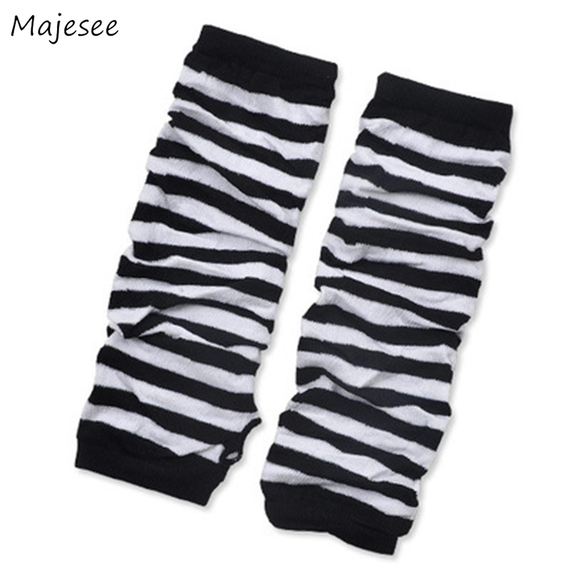 Arm Warmers Women Striped Simple All-match Daily Womens  Cover Ladies Fashion Chic  Korean Style Sun Protection New