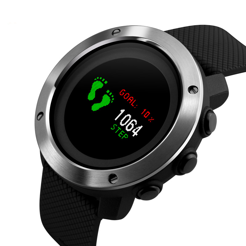 NEW Fashion Digital Watch Men Casual Waterproof Outdoor Running Sport Clock Men Countdown Buckle Alarm Repeater Simple Watch