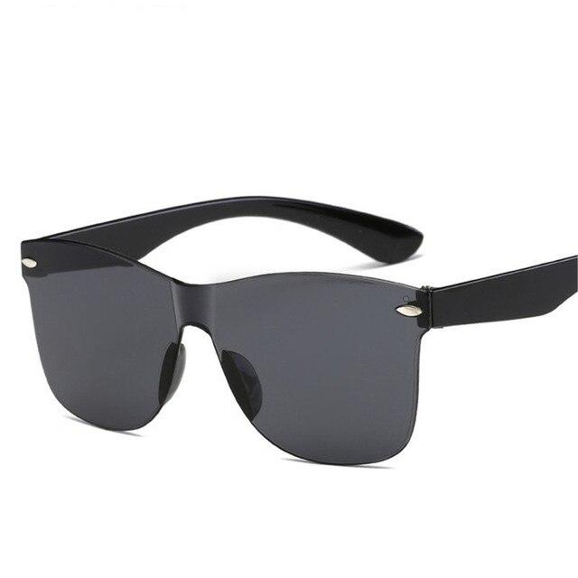 2020 Fashion One-piece Cat Eye Sunglasses Women/Men Gradient Lens Retro Mirror Rimless Sun Glasses Vintage Travel Eyewear Oculos 8