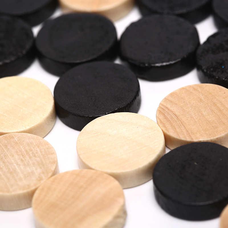 الخشب الشطرنج 32 قطعة المسودات/لعبة الداما/لعبة الطاولة الشطرنج قطعة للأطفال مجلس لعبة التعلم التخييم
