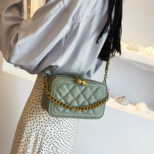 Luxury Brand Designer 2019 New Fashion Lady Small Square Messenger Bag Plaid Flap Chain Handbag Women Crossbody Shoulder sac