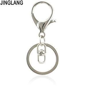 JINGLANG wysokiej jakości metalowy brelok do kluczy brelok do kluczy Hipster breloczek do kluczy pasek portfela biżuteria 30 Psc