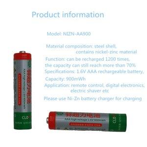 Image 2 - كفاءة عالية للطاقة وانخفاض التفريغ الذاتي قابلة للشحن 1.6 فولت AA AAA Ni Zn البطارية مع 2 طريقة شاحن بطارية ذكي