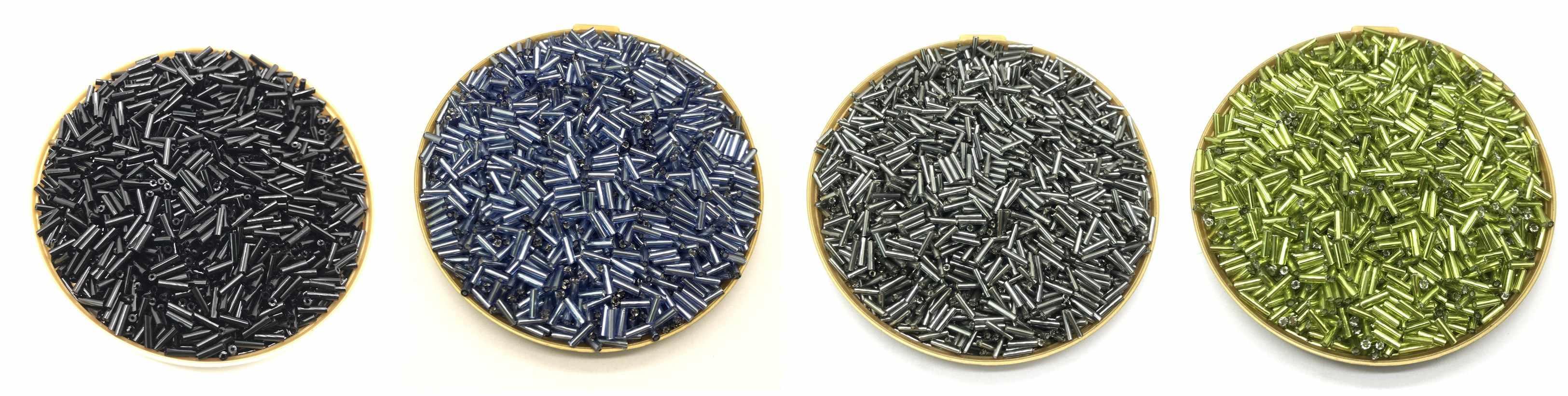 רב צבע זכוכית זרע Spacer חרוזים אוסטריה קריסטל צינור ארוך חרוזים עבור תכשיטי ביצוע DIY צמיד שרשרת