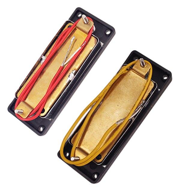 Lot de 2 pièces Mini Humbucker micros guitare pick-up pour 4 cordes guitare basse électrique pièces