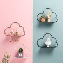 Детская комната в скандинавском стиле подвесная полка для хранения вещей детская комната наклейки Детские облака наклейки фотография
