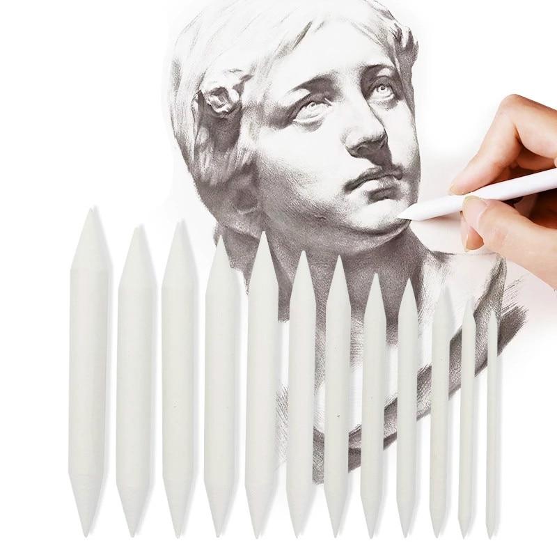 3/6 pces cabeça dupla durável arte ferramenta de desenho pastel nova mistura borrão material escolar esboçar lápis de papel