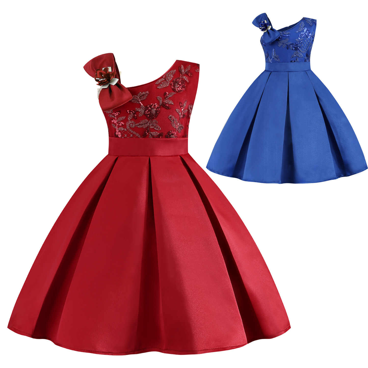 Girls Dresses 20 Flower Girl Wedding Dress Formal Dresses for Party 20 20  Years Kid's Baby Sleeveless Birthday Princess Clothes