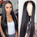 SVT 150% 180% индийские 4X4 прямые парики из натуральных волос на шнурках 13X4 360 парик с фронтальным кружевом prepucked Hairline для черных женщин
