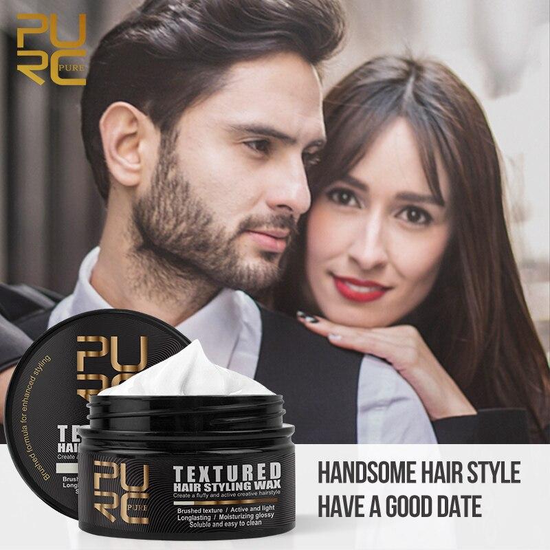 Воск для укладки волос для мужчин с сильной фиксацией, Матовый крем для моделирования, восковой воск для волос