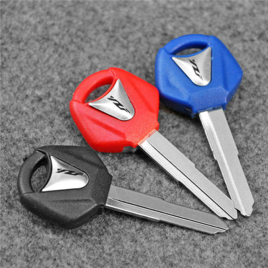 Right Blade Blank Blade Uncut Key Fit For Yamaha YZF R1 R6 R8 Motorcycle 3 Color