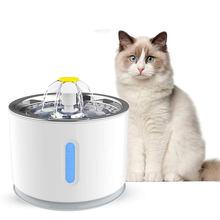 Gato fonte de água led display nível água elétrica mudo água bebedor de gato 2.4l alimentos lentos automático beber tigela para gatos