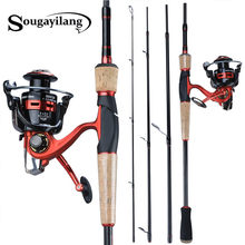 Sougayilang 2020 Newportable Hengel Met 13 + 1BB Spinning Reel Combo Carbon Fiber Hengel En Spinnewiel Kit(China)