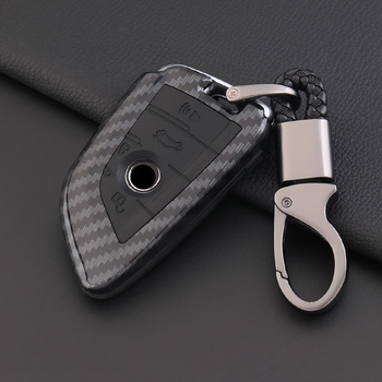 Carbon Fiber Silicone Car Key Case Cover For BMW F10 F18 F30 320i X3 X4 X5 M3 M4 M5 E36 E39 E46 E90 E60 G30 Interior Accessories image