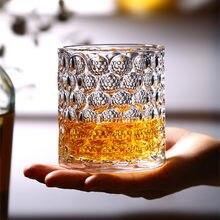Perle punkt whisky glas 300ml wärme beständig haushalt glas wasser glas net rot glas gravierte ausländischen wein glas cocktail glas