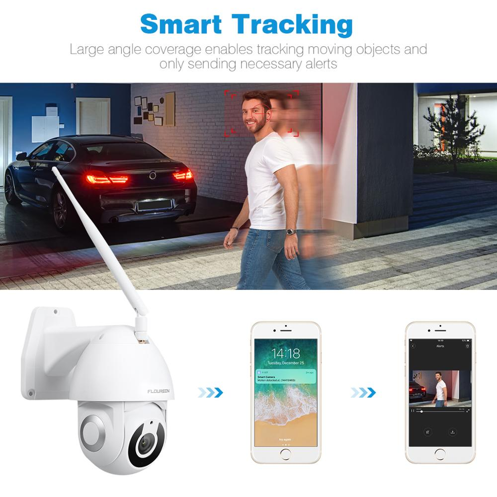 Image 3 - Floureon 2019 New 1080P HD IP Camera Wireless WiFi Outdoor Camera Smart Motion Tracking App Alarm Camera Compatible With Alexa-in Surveillance Cameras from Security & Protection