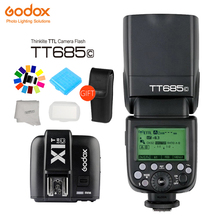 цена Godox TT685 Flash 2.4G Wireless HSS 1/8000s TTL GN60 Wireless Speedlite +X1T Trigger for Canon Nikon Sony Olympus DSLR Cameras онлайн в 2017 году