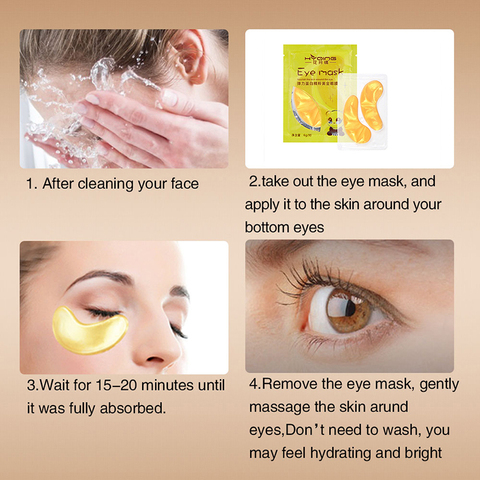 1pcs Gold Collagen Eye Mask Ageless Sleep Mask Hydrogel Eye Patches Pads Dark Circles Moisturizing Face Mask Care TSLM2 Multan