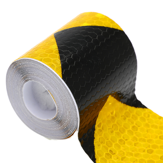 5cm*3m Self Adhesive Warning Tape Arrow Safety Mark Reflective Tape Stickers Car-styling Automobiles Motorcycle Reflective Film 4