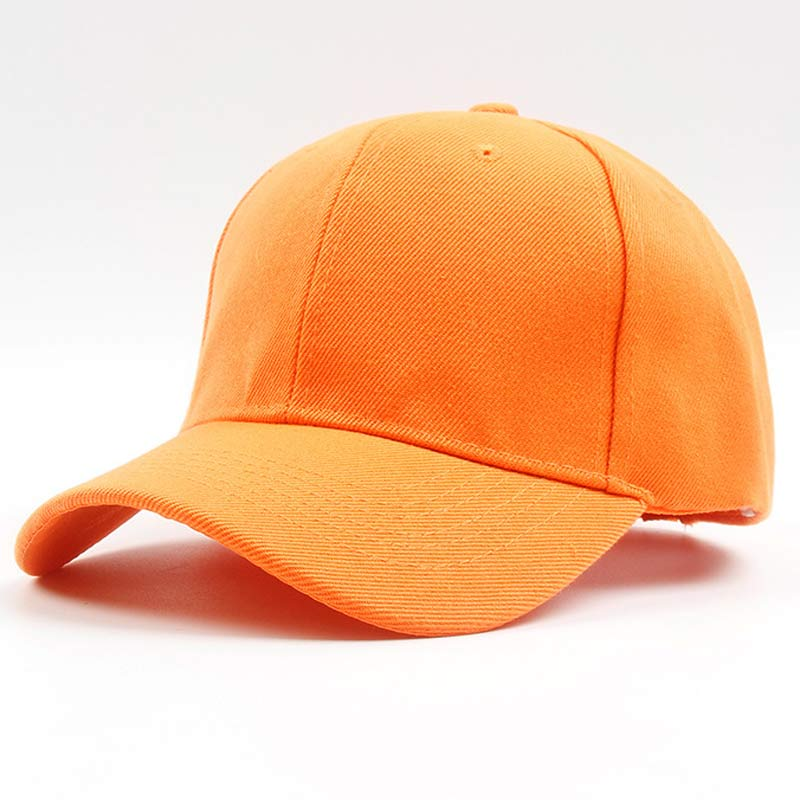 Men Women 6 Panel Plain   Baseball     Cap   Adjustable Solid Twill Hats Orange Red Blue Black Grey Brown