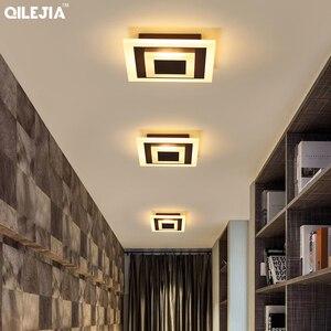 Image 3 - Lámpara acrílica cuadrada/redonda para sala de estar, dormitorio, hogar, AC85 265V, candelabro Led moderno, accesorios, novedad