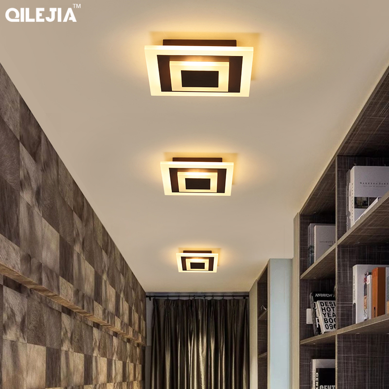 Image 5 - New Acrylic Square lamp chandeliers For Living Room Bedroom Home AC85 265V Modern Led Chandelier Lamp Fixtures-in Chandeliers from Lights & Lighting