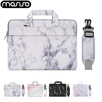 цена на MOSISO Notebook Sleeve Shoulder Bag for Macbook Pro Air/Huawei/Dell/Lenovo/HP Laptop Messenger Bags 11 13 14 15 inch Soft Sleeve