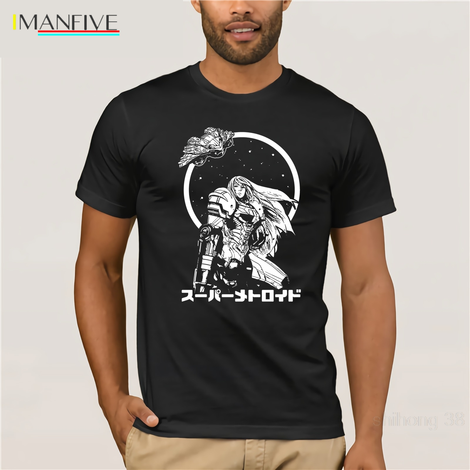 The Bounty Hunter Metroid T-Shirt  Mens new cool 2019 latest fashion Quality T Shirts Men Printing Short Sleeve O Neck Tshirt