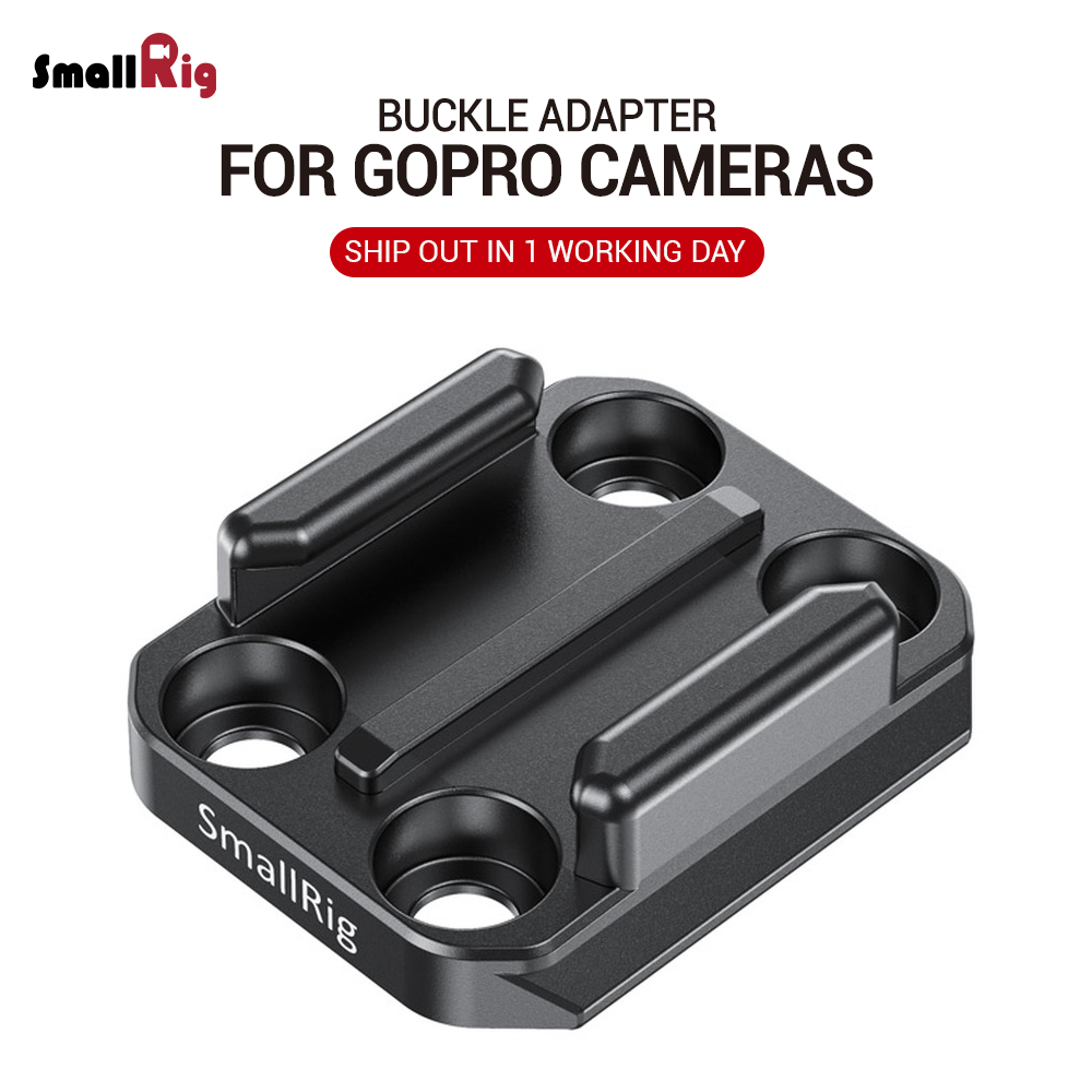SmallRig Camera Rig Buckle Adapter With Arca Quick Release Plate For For GoPro HERO 8 / 7 / 6 / 5 Black Vlogging Rig 2668