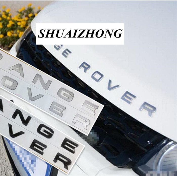 10set ABS plastic RANGE ROVER style 3D logo car sticker badge car front hood badge Car