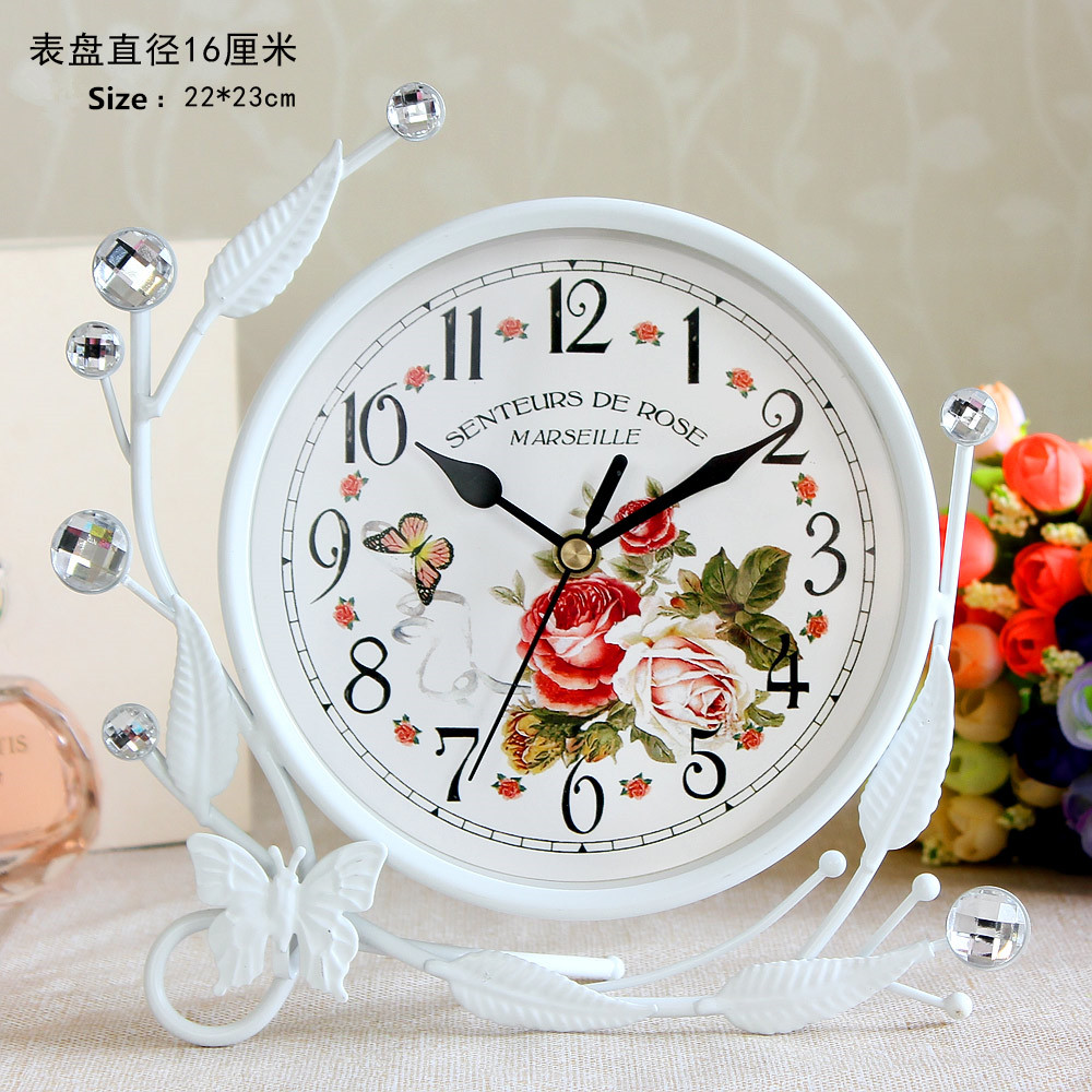 European style home decoration elegant desk clock, bedroom, sitting room can be creative table clock, decorative articles image