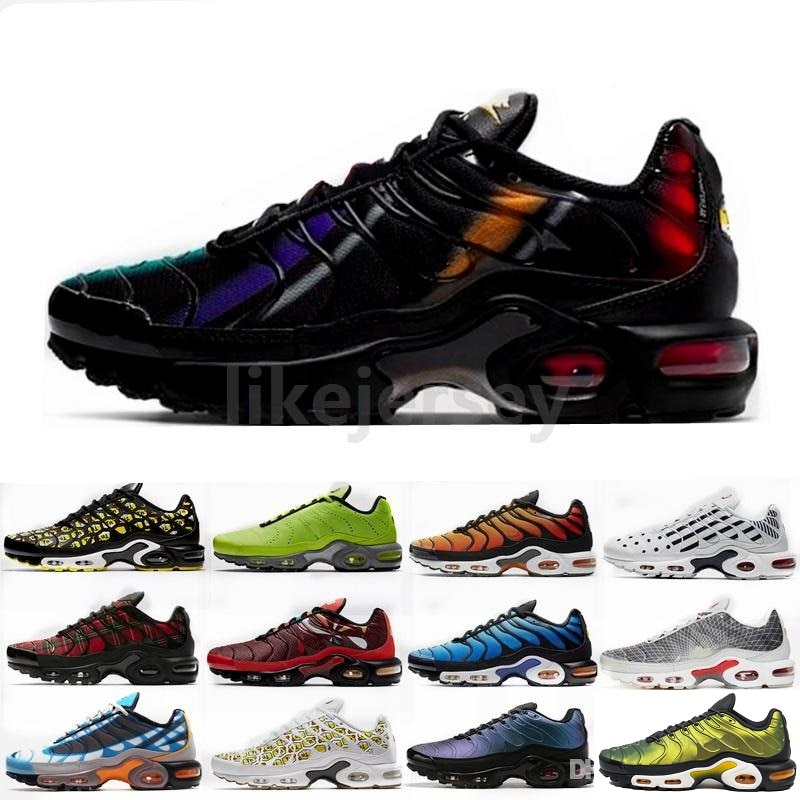 US $90.0 55% OFF|Nike Air Max TN Plus Color Flip Men's Running Shoes Fashion Shock Absorption Fitness Sneakers Non slip Designer Footwear CI5924 on