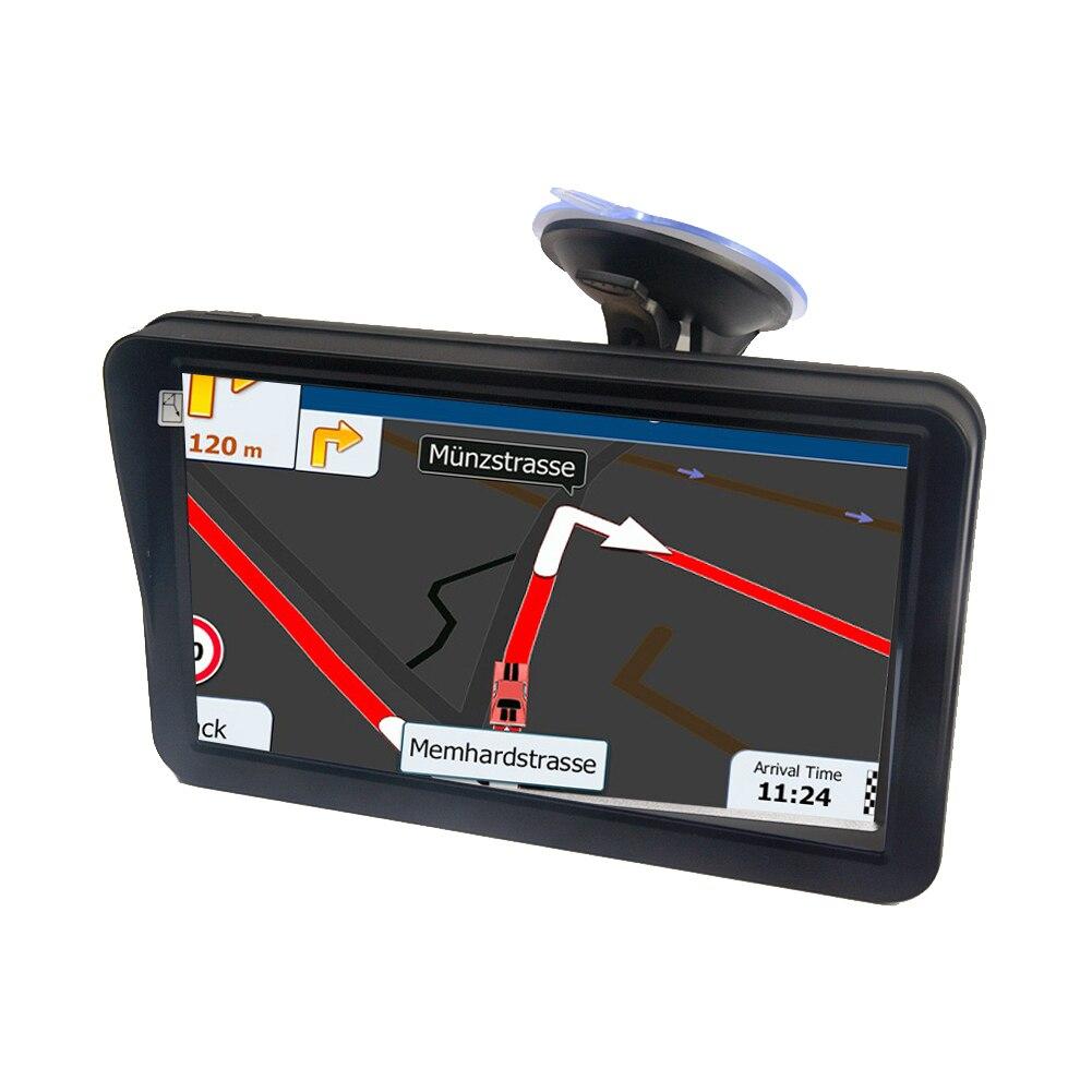 9 pouces 256 mo 8G GPS navigateur multilingue Portable guidage caravane écran tactile cartes voiture universel avec pare-soleil FM HD camion