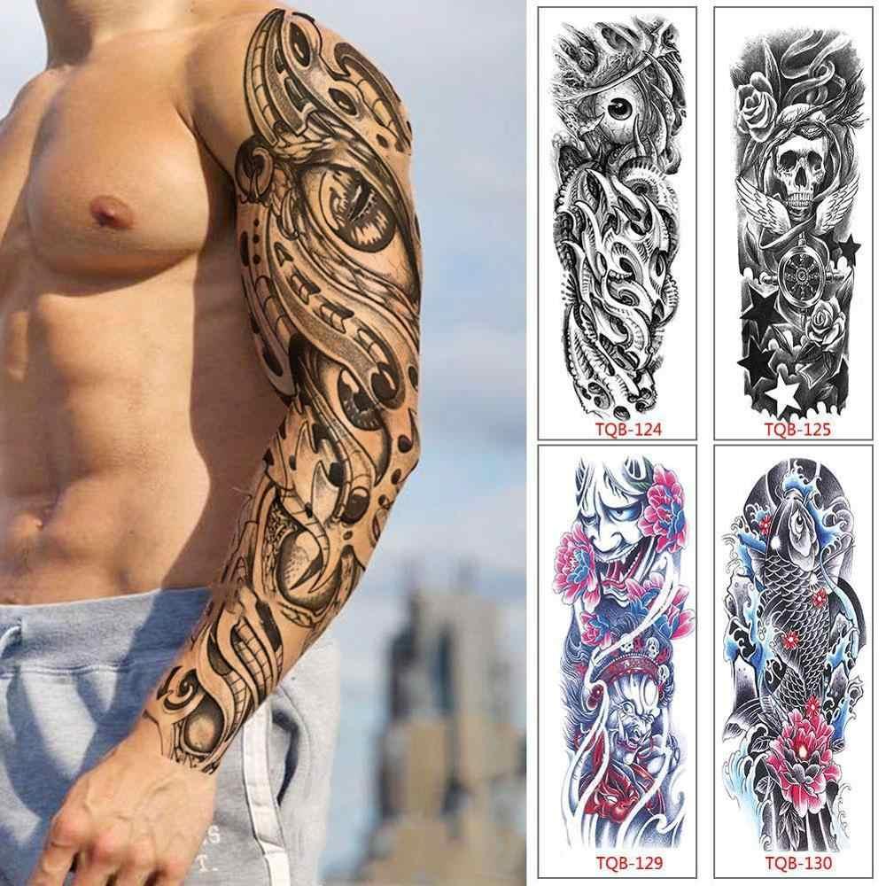 Tatuaje Para Brazo Temporal Resistente Al Agua Para Hombres Y Mujeres Tatuajes Artisticos 3d De Brazos Completos Para El Cuerpo Y El Brazo Disenos Tribales Tiger Dragon Skul Tatuajes Temporales Aliexpress