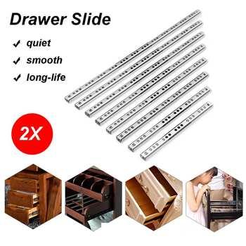 2 sztuk 8 #8222 -16 #8221 17mm łożyska kulkowe prowadnice do szuflad meble slajdów kulka stalowa łożyska slajdów klawiatura szafka szuflada do szafki biegaczy tanie i dobre opinie CN (pochodzenie) Woodworking 8-16inch